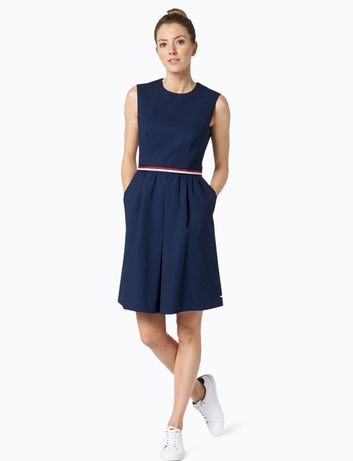Шикарное платье Tommy Hilfiger синее длинное миди весна/лето клеш