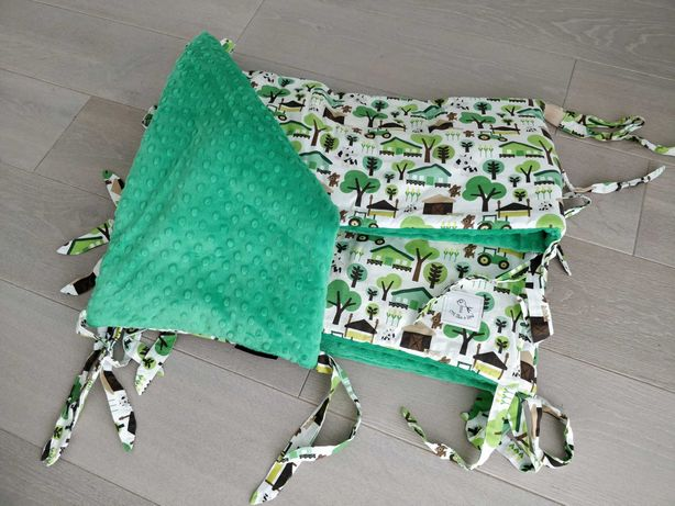 Ochraniacz do łóżeczka 60x120 minky/bawełna