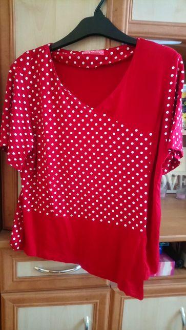 Czerwona bluzeczka na krótki rękaw XL/2XL