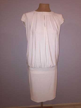 Sukienka letnia ecru elastyczna
