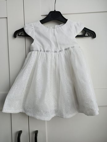 Sukienka biała do chrztu, wizytowa r 74 Cool club
