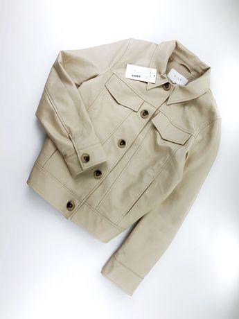 Нова кожзам куртка Vila