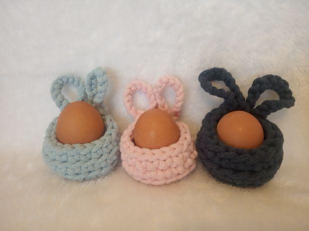 Koszyk na jajko dekoracja wielkanocna koszyk z uszami królika
