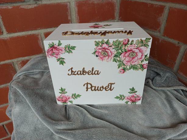 Pudełko na obrączki, ślub , pudełko na koperty, wieszaki, upominki