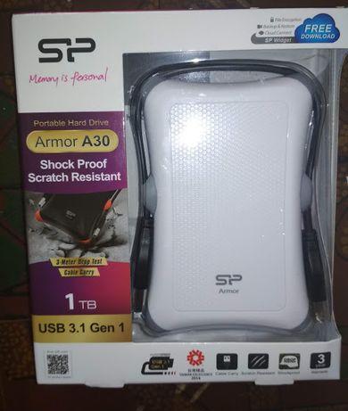 "Продам внешний жёсткий диск HDD SiliconPower 1Tb 2.5"" Armor A30 White."