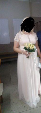 Sukienka ślubna ciążowa 42