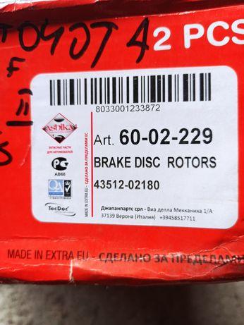 Ashika 6002229 тормозной диск toyota rav-4 auris II Е15
