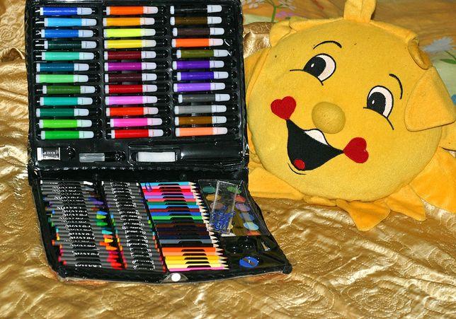 Набор для рисования, 150 шт., фломастеры, краски, карандаши и т. д.