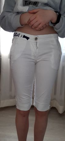 Бриджи котоновые белые размер 38