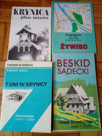7 dni w Krynicy, plan Krynicy, Żywca, mapa Beskid Sądecki
