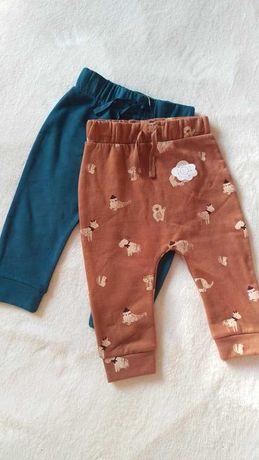 Spodnie dresowe 6-9 m 74 cm 2 pak bawełniane George Mayoral zara