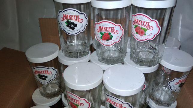 Стеклянные стаканы с крышками