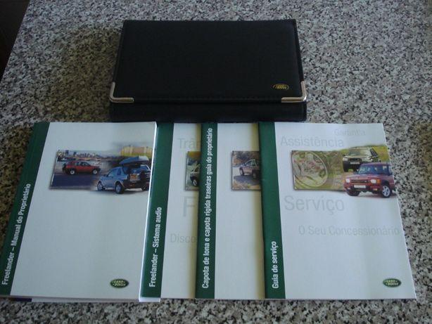 land Rover freelander pasta com manuais de origem 3p 5p