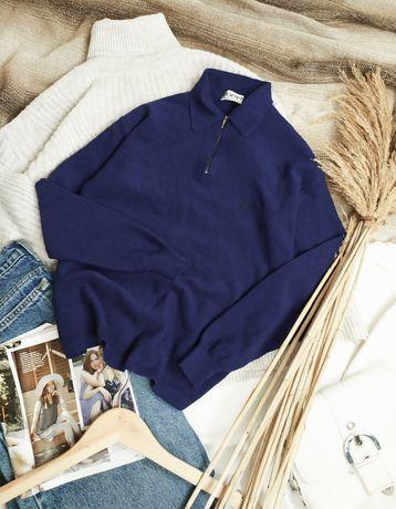 Шерстяная кофта поло свитер 100% merino wool