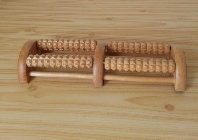 Masażer stóp drewniany tradycyjny akupresura medycyna wschodu masaż