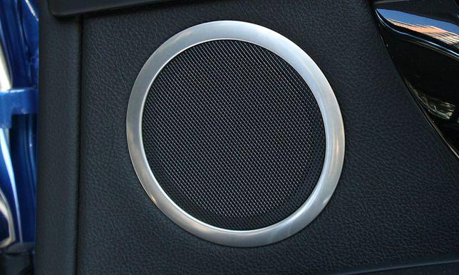 Ramki ozdobne głośników BMW ser. 3 i ser. 4 ,Metal, 4 sztuki