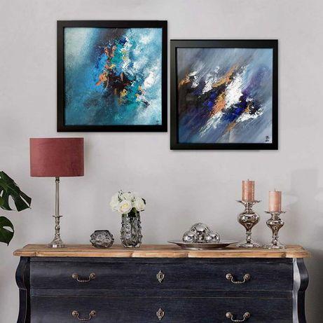 Obraz akryl Abstrakcja 30x30cm w ramkach. Okazja!