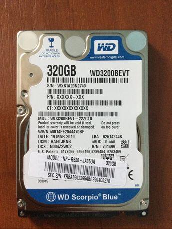 Продам жесткий диск, hdd, 320 GB