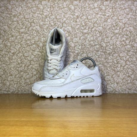 Белые кожаные кроссовки nike air max 90 оригинал размер 35.5