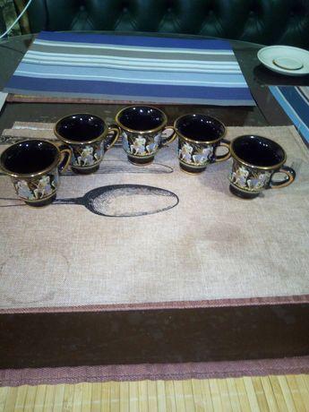 Кофейні чашки кераміка 6 шт. 250 грн.