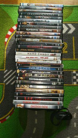 Lote de DVDs, filmes, musica e jogos.