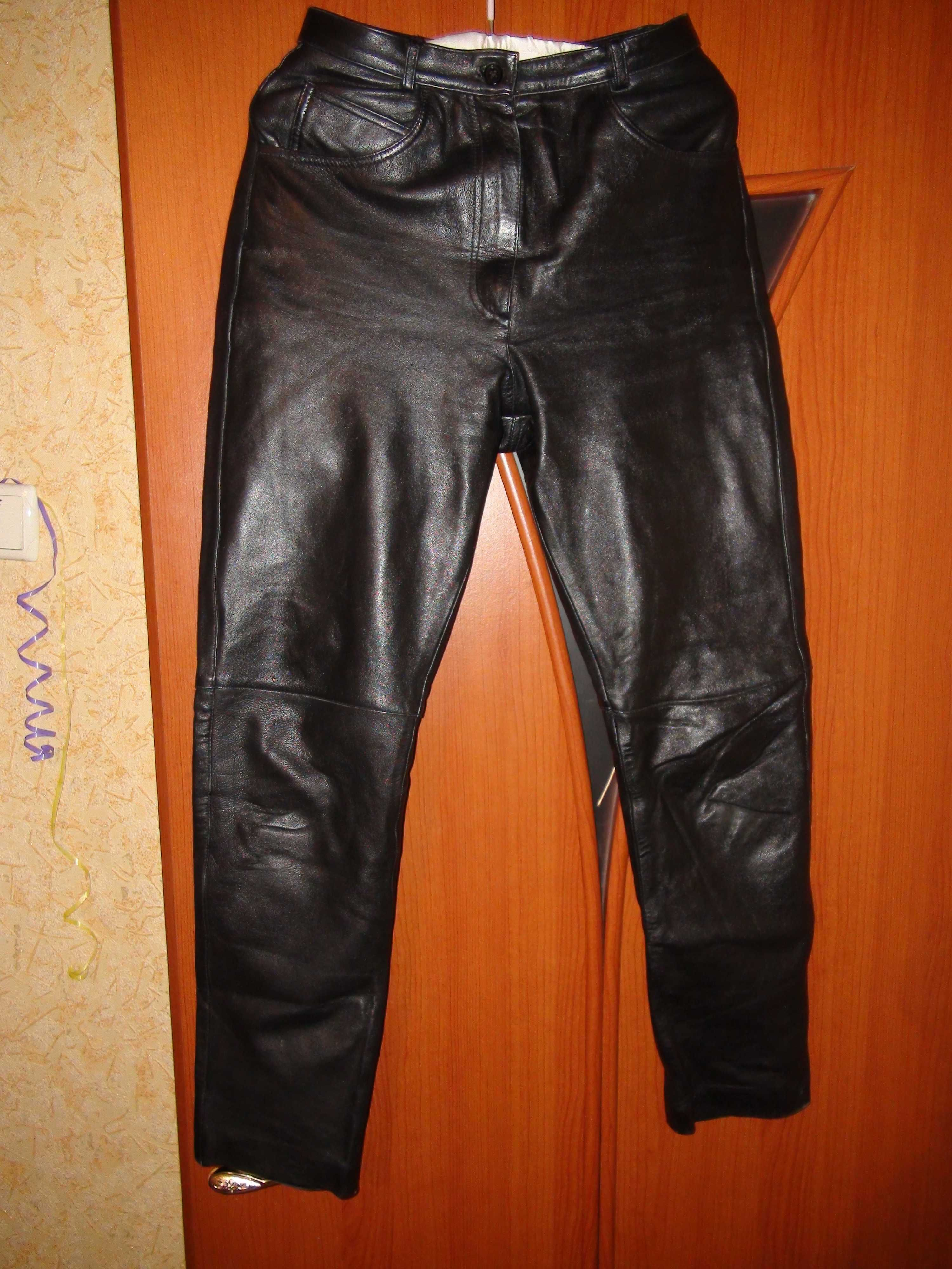 кожанные мото штаны