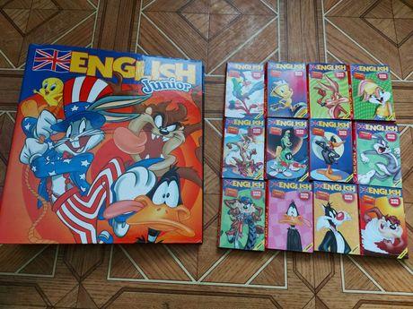 English junior segregator + kasety nauka angielskiego dzieci