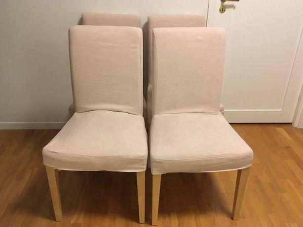 4 krzesła Ikea Henriksdal jasnoróżowy (komplet)
