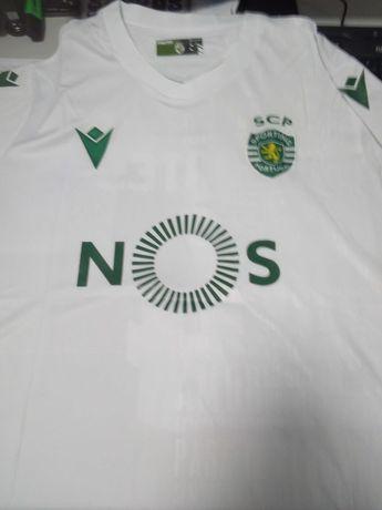 camisola alternativa branca sporting clube de portugal