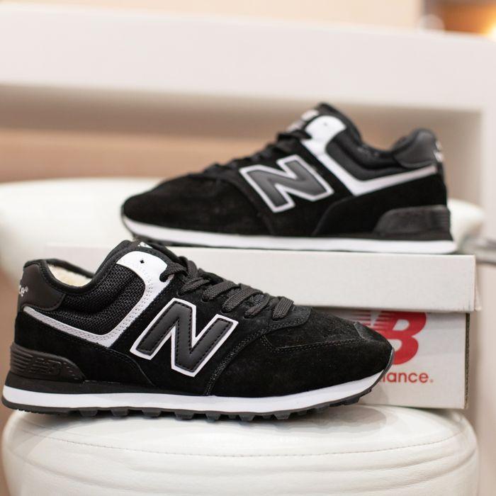 6107 New Balance 574 чёрные кроссовки мужские зимние с мехом сапоги Винница - изображение 1