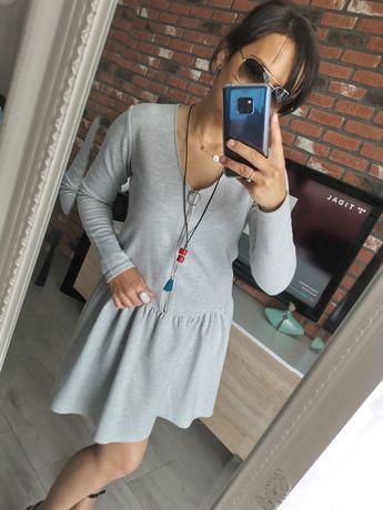 Sukienka Reserved 36/38 szara jak nowa