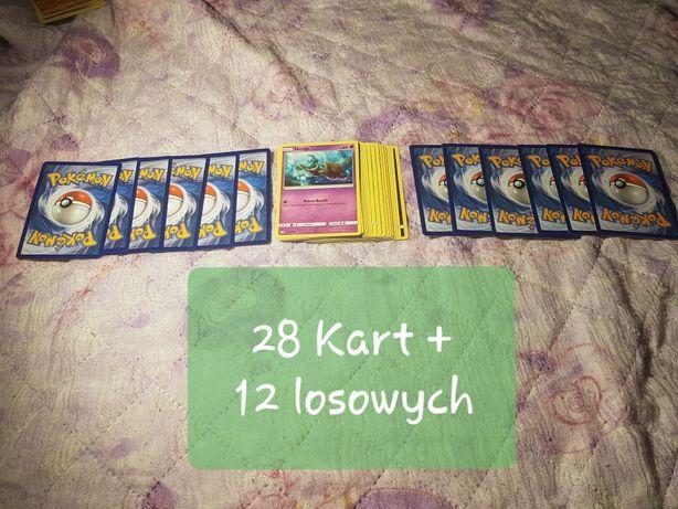 Zestaw 40 Kart Pokemon dla Dziecka + gratis