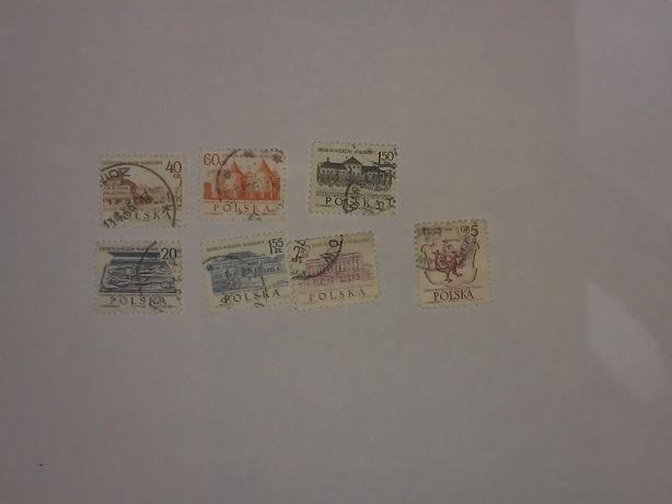 Sprzedam znaczki pocztowe 7szt. 7 Wieków Warszawy.