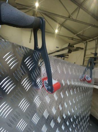 Blacha ryflowana 1000x1000x2 aluminiowa,1mx1m, przyczepa, gr 2 mm,