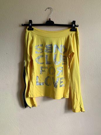 Żółta bluzka, długi rękaw, rozmiar M, NOWA