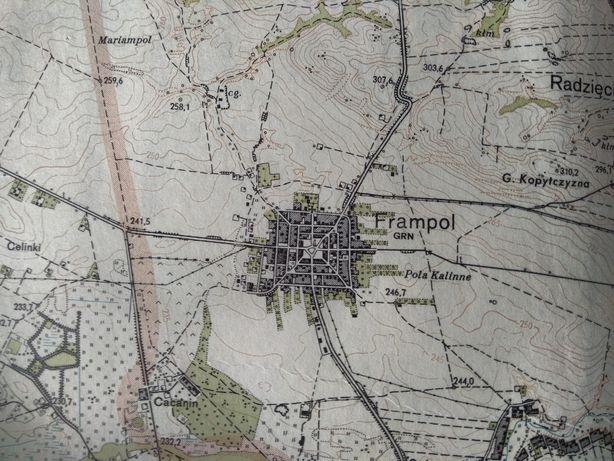 Mapy topograficzne powiatów Polski 1:25000 (obrębówki, powiatówki)