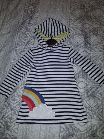 Платье туника  с капюшоном Berni на 3-4 года