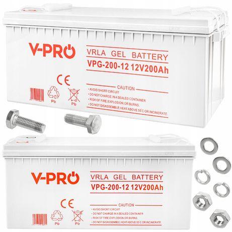 Akumulator żelowy do ups 12v 200ah gel solarny [AKU33]