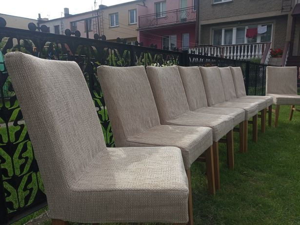 Stół rozkładany + 10 krzeseł