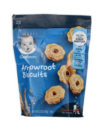 Gerber, печиво дитяче, печенье из аррорута, для малышей от 10месяцев,