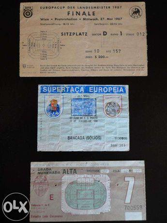 Vendo Bilhetes do F.C. Porto Campeão Europeu em 1987 e Supertaça Europ