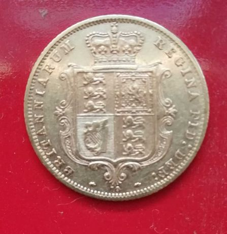 Meia Libra Vitória Brasão 1873