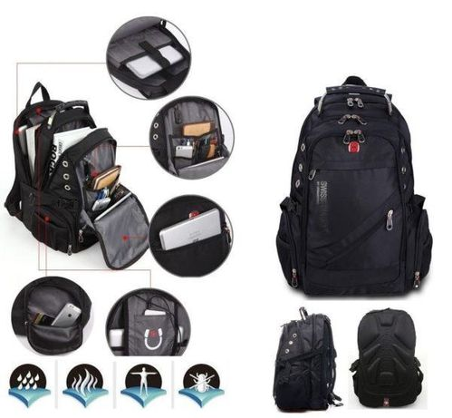 Городской рюкзак SwissGear 8810 с разъемом USB + AUX + Чехол