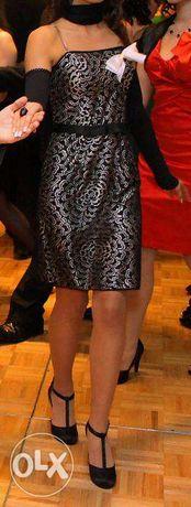 Sprzedam elegancką, koronkową sukienkę