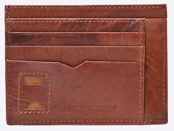Mini portfel brązowy skóra naturalna nowy VIP Collection ochrona RFID