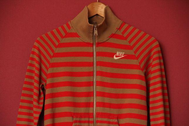 Nike рр S кофта из хлопка, высокое горло, двойной замок