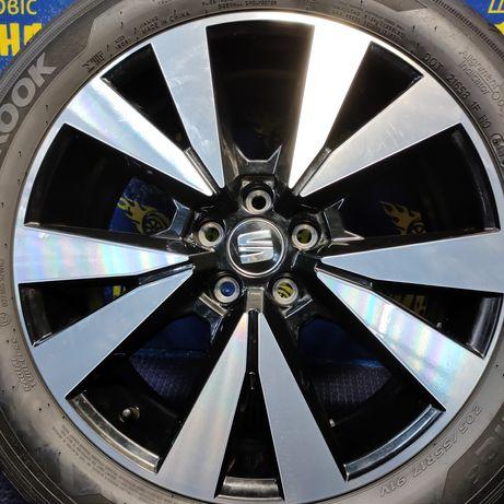 Диски 5x100 R17 Seat Volkswagen Skoda Audi з шинами 205/55R17 Hankook