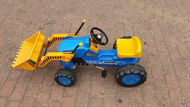 Traktor na pedały z turem ( łyżką)