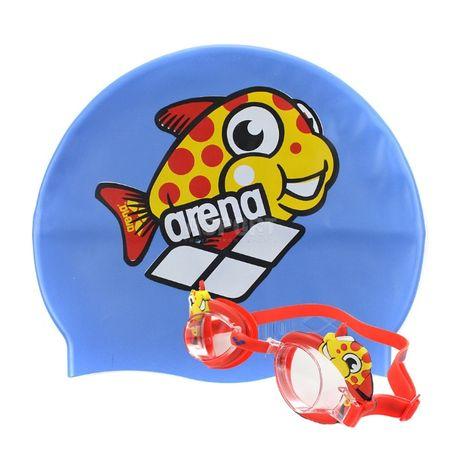 Arena okulary czepek okularki zestaw dla dziecka basen