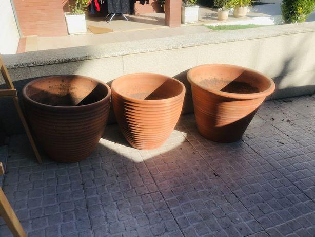 3 Vasos jardim exterior